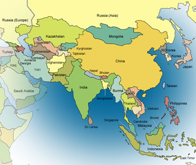 Asia world map timekeeperwatches gumiabroncs Choice Image
