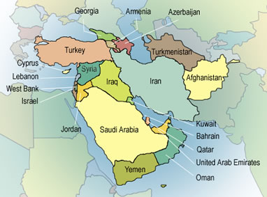 World Map Maker - World map middle east
